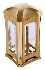 """Grablampe """"Venezia"""" goldfarben, Grablaterne Grableuchte Grablicht Grabschmuck"""