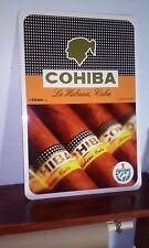 """COHIBA cigar Aficionado Aluminum sign 12"""" x 18"""""""