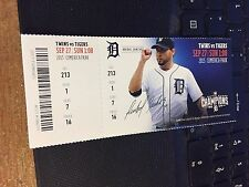 2015 DETROIT TIGERS VS MINNESOTA TWINS TICKET STUB 9/27 BYRON BUXTON 1ST MLB HR