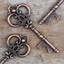 50 Antique Copper Skeleton Key Bottle Openers Vintage Keys - Queen