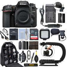 Nikon D7500 20.9 MP 4K Digital SLR Camera Body + 64GB Pro Video Kit
