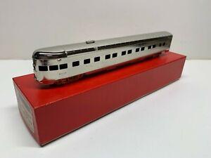 Coach Yard Plated HO Brass Santa Fe 1938 Super Chief Obs. w/trucks C8 w/box!