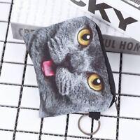 Storage Canvas Cat Key Bag Coin Purse Wallet Earphone Bag Card Package