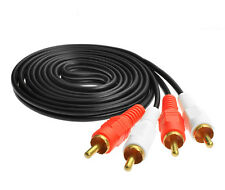 4.9FT PRO 2x RCA Twin PHONO Audio Cable 1.5 metre Lead Male Plug to Male Plug