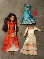 RARE Disney Store Elena Of Avalor Wardrobe Set With Shoes, Outfits & Accessories