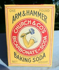 Vntg Unopened 1 lb. Box of Arm & Hammer Church & Co's Baking Soda Very Good Con
