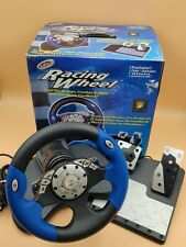 Intec Racing Wheel Works w/ PS2 Xbox & Gamecube COMPLETE!!! TESTED WORKS!!!!