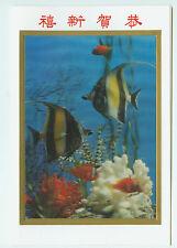3d cartolina cartolina Mappa pieghevole caratteri asiatici pesci