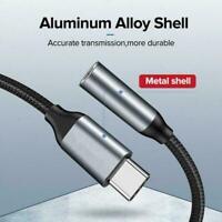 Aux Audio Jack Active DAC Headphone Adapter Cable USB-C Type to C neu 3.5mm U3U9