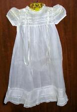 VTG 1940S HAND MADE GORGEOUS BABY CHRISTENING GOWN DRESS, WHITE ORGANDY & LACE