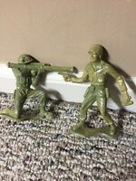 2 TIM-MEE PLASTIC TOY SOLDIERS A22