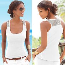 UK Fashion Womens Vest Sequin Sleeveless Blouse Casual Tank Beach Tops T-shirt XXXS Rose