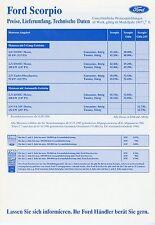 Price list Ford Scorpio 2.10.96 1996 prices Car Price List CAR CARS PRICE LIST