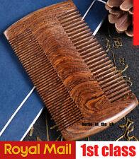 1 X Pocket Comb Black Sandalwood Brush Wooden Wide Tooth Comb