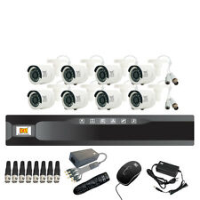 MX CCTV Camera Kit 8 Channel Analog System w/ Analog Camera DVR BNC DC pin -Set2