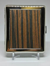 Kingstar Wood Plate Double Sided Metal King Size Cigarette Case