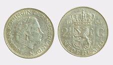 pci4570) Netherlands  Juliana -  2 + 1/2 gulden  1964 silver