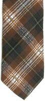 """Structure Men's Silk Tie 57.5"""" X 3.5"""" Multi-Color (Brown) Plaid"""