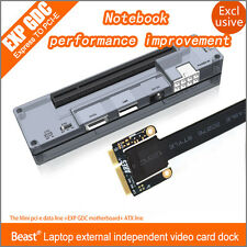 V8.0 EXP GDC Beast Laptop External Independent Video Card Dock Mini PCI-E Vers..