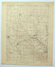 1923 Buda Illinois Wyanet Sheffield Princeton Vintage USGS Topographic Topo Map