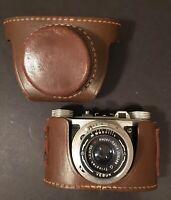 VEBUR Classic 35 Vintage Compact Film Camera Trioplan Meyer-Optik Lens  W/ Case