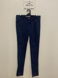 COUNTRY ROAD Womens designer brushed faded blue denim jeans size 10 GRT