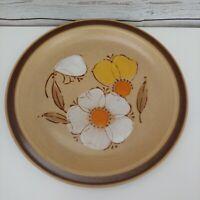 Hearthside Stoneware DOGWOOD Dinner Plate Mod Flowers Japan Vintage 70s 80s