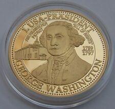 USA George Washington - 999 SILBER - VERGOLDET - SILBERMÜNZE - SILBERBARREN
