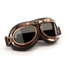 Retro Vintage Aviator Pilot Motorcycle Cruiser Scooter Biker Goggles For Harley