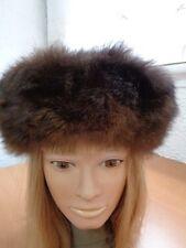 Mint Natural Opossum Fur Hat Cap Women Woman Size All