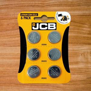 6 X JCB CR2032 CR2025 CR2016 3V Lithium Button Coin Cell Battery DL2032 BR2032
