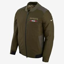 Nike New England Patriots STS Reversible Bomber Jacket Salute to Service Large