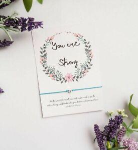 Affirmation Wish Bracelet, You Are strong mindfulness card, Mental health