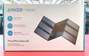 Anker Power Port Solar 60 Black SOLAR Charger High-Powered Foldable USB A1601011