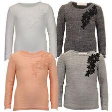 T-shirt avec un motif Floral à manches longues pour fille de 2 à 16 ans