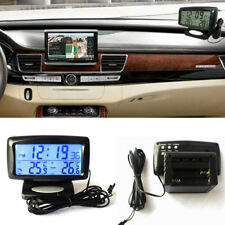 Car LED Digital LCD Thermometer Clock Temperature Meter Indoor Outdoor Gracious