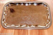 Buffetplatte Servierplatte Partyplatte RECHTECKIG Metall verchromt buffet 41x31