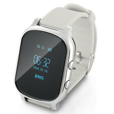 Anti-Lost Smart Watch GPS children Kids Watch for Android IOS Samsung Silver