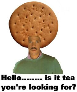 Lionel Rich Tea Funny Cheesy 70s 80s 90s Soul Pop Music Disco Biscuit DJ Tshirt