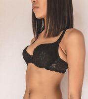 Florella Lingerie Black Bra Panties Boyshorts Set 32 34 36 38 A B C D Valentines