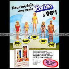 Mattel Vintage BARBIE, SKIPPER & KEN - 1977 Pub / Publicité / Original Ad #A174