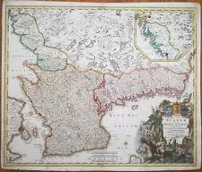 Homann Original Map of Sweden Nova Tabula Scaniae - 1730