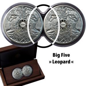Südafrika - Satz 2020 Big Five Leopard Doppelkapsel (4.) - 2 x 1 Oz Silber PP