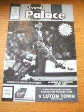 27/11/1989 Crystal Palace v Luton Town [Zenith Data Systems Cup] (Folded, Team C