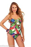 SEXY LADIES JADE GREEN HALTERNECK STRAPLESS SWIMSUIT SIZE 8 10 NEW TROPICAL