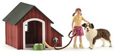 Schleich 42376 Dog Kennel with Dog & Girl Toy Play Set, For Ages 3+