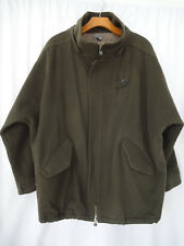 Vince Wool blend military men's Jacket Size M full zip /buttons army olive green