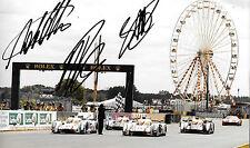 Lotterer/Fassler/TRELUYER firmato 12x8 Audi E-Tron Quattro, Le Mans 24hrs, 2012