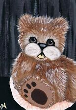 ACEO Limited Edition Print Of Original by K Maas, Teddy Bear