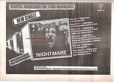 VENOM (Cronos) Nightmare 1985 UK Press ADVERT 12x8 inches